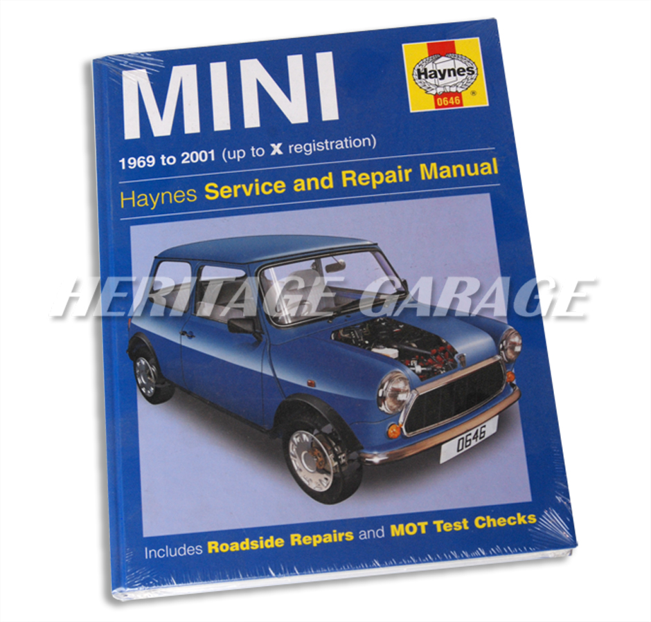 Haynes Manual 69-2001. Essential shop manual for LATER Mini owners. For all  models 1969 to 2001.